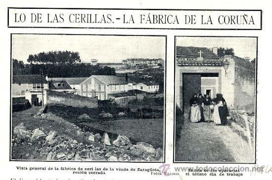 LA CORUÑA 1908 FABRICA CERILLAS VIUDA DE ZARAGÚETA