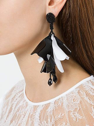 Oscar de la Renta large Impatient earrings