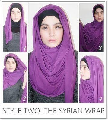 Syrian hijab tutorial