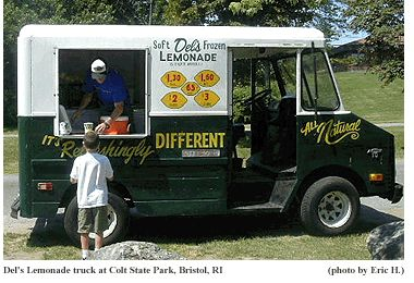 One of the sure signs of summer in Rhode Island is finding a Del's Lemonade truck!