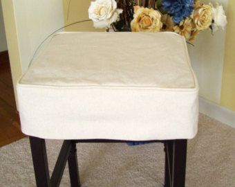 Parson Chair Slipcover Tailored Skirt Canvas Dining Chair