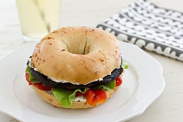 Portabella Mushroom Bagel Sandwich/Oh My Veggies