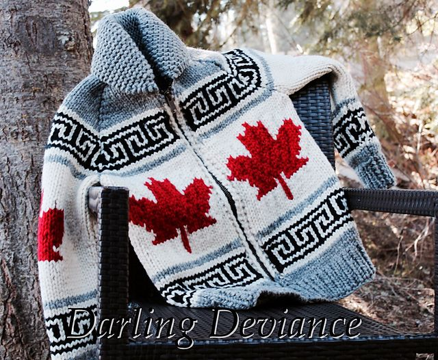 Ravelry: Project Gallery for Oh Canada Sweater pattern by Darling Deviance