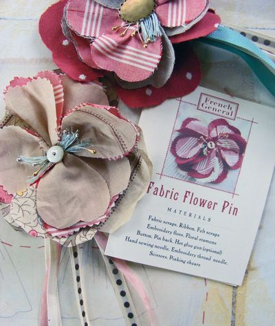 Fabric flowers are great to top a gift.