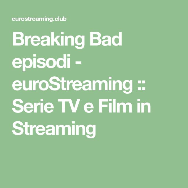 episodi da eurostreaming
