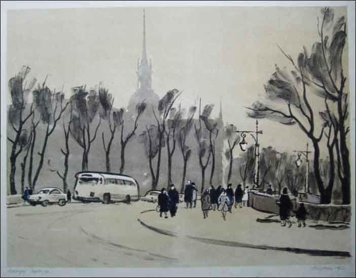 Чарнецкая М. Садовая улица 1963 г.