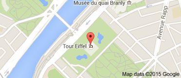 Map of eiffel torni