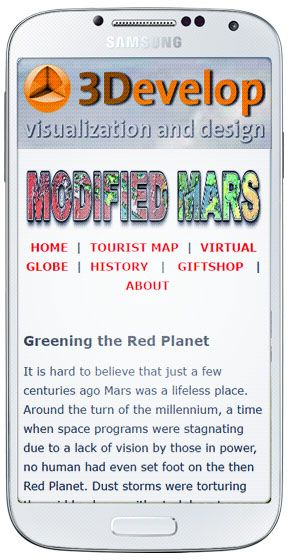 Modified Mars is now responsive so the website should look good on your mobile phone, tablet or any other device.