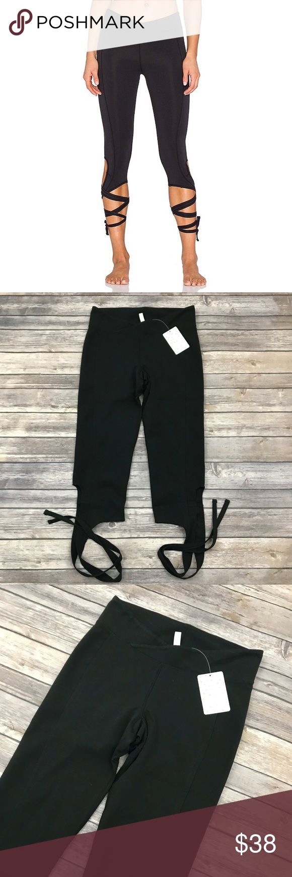 New Free People Turnout Leggings in Black Free People Turnout Lace Up Crop Leggings in Black •New with tags •Size Small •Retails for $88  Check out my other listings- Nike, adidas, Michael Kors, Hunter Boots, Kate Spade, Miss Me, Rock Revival, Coach, Wildfox, Victoria's Slecret, PINK, True Religion, Ugg Australia, Free People and more! Free People Pants Leggings