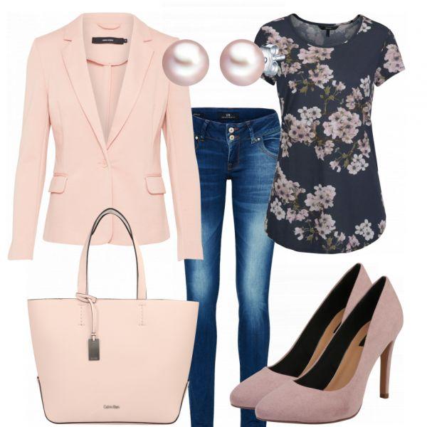 BlumenBluse Damen Outfit – Komplettes Business Outfit günstig kaufen | FrauenOutfits.de