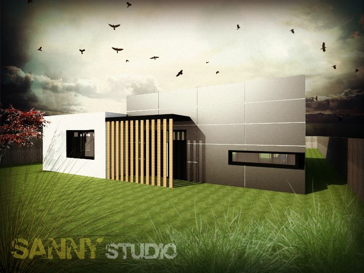 3D vizualizácie rodinného domu.