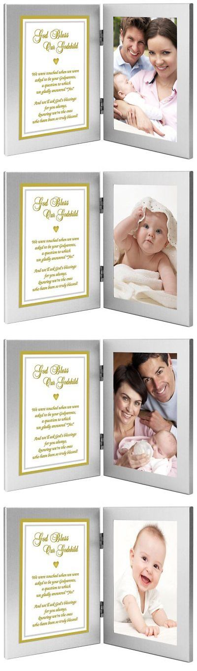 Baby Picture Frames 117392: Godson Or Goddaughter Gift From Godparents - Baptism Or Christening Frame - Add -> BUY IT NOW ONLY: $41.25 on eBay!