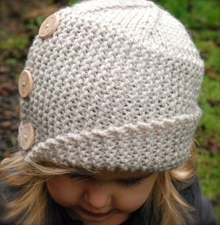 """""""Piper Cloche"""" child size knitted hat. Knitting pattern available for purchase."""