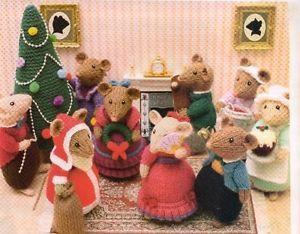 Dickensian Mice Christmas Tree Knitting Patterns Doll Toy Alan ...