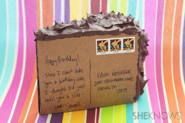 postcard cake
