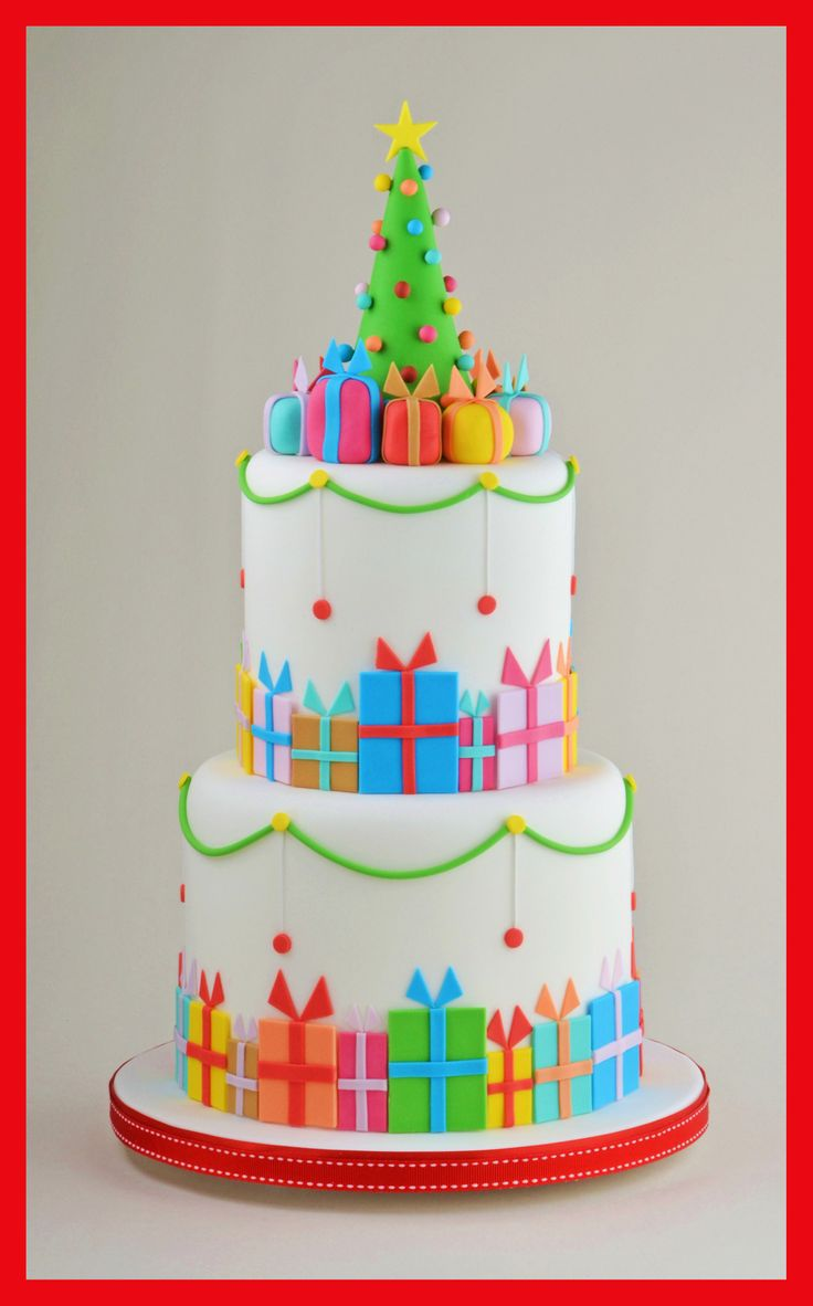 Christmas parcel cake made for Renshaw Baking.