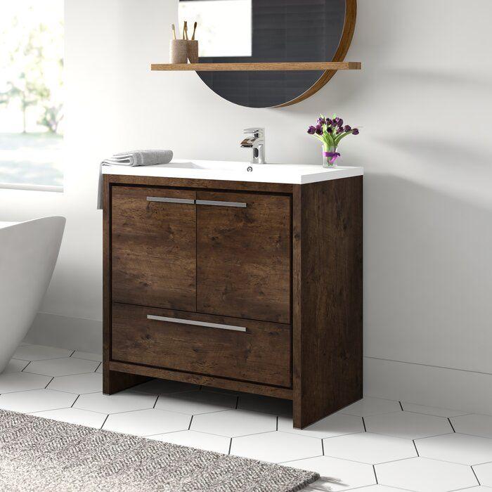 Almendarez Free Standing Modern 36 Single Bathroom Vanity Set In