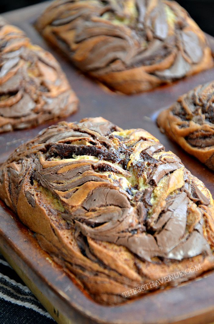 Nutella Banana Bread Recipe 1 at the36thavenue.com