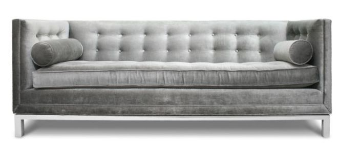 Jonathan Adler silver couch