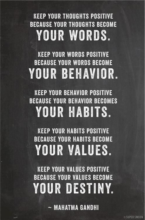 Some words from Gandhi.. Be positive! #quote #positive #motivation