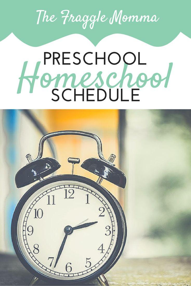 Preschool Homeschool Schedule