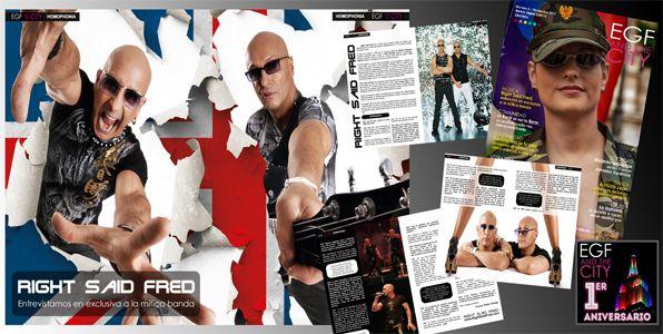 """Entrevista a la mítica banda de pop """"Right Said Fred"""" - Revista EGF and the City"""