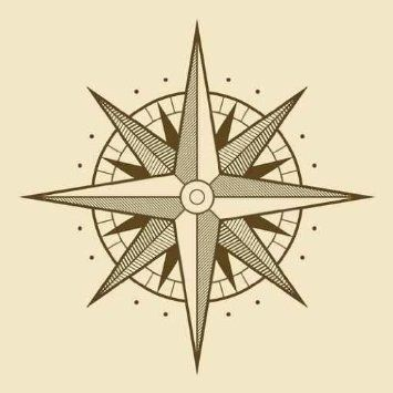 "Amazon.com: Vector Oldstyle Wind Rose Compass - 30""H x 30""W - Peel and Stick Wall Decal by Wallmonkeys: Home & Kitchen"