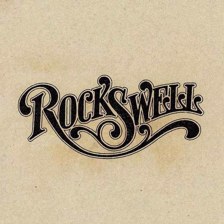 Custom retro typography by Aaron von Freter for Rockswell