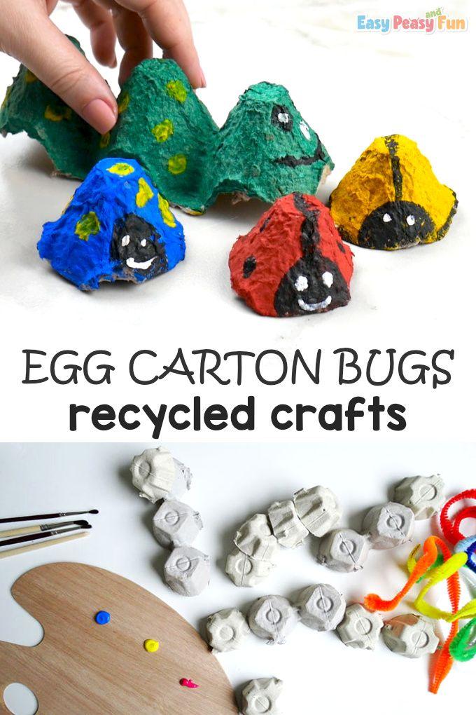 Bugs Egg Carton Crafts Egg Carton Crafts Ladybug Crafts Bug Crafts