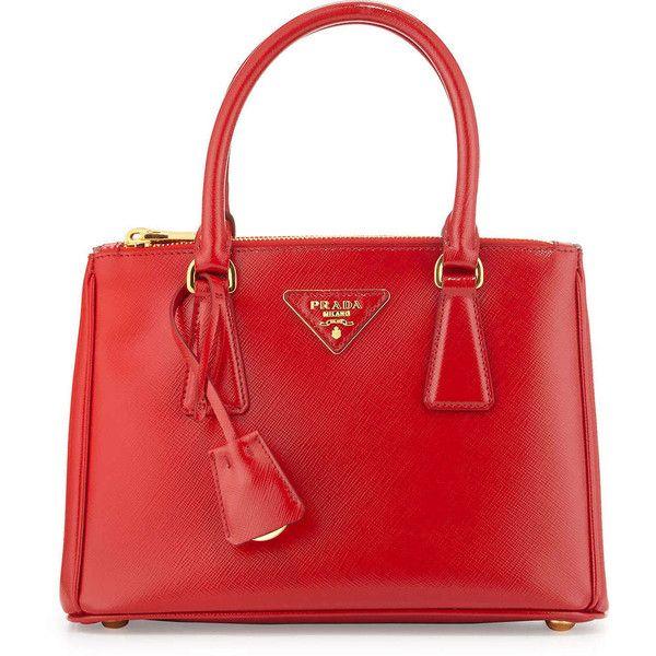 cheap prada wallets for men - Prada Saffiano Vernice Mini Double-Zip Tote Bag ($1,850) ? liked ...