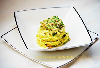 Tagliolini freschi con salmone e zucchine