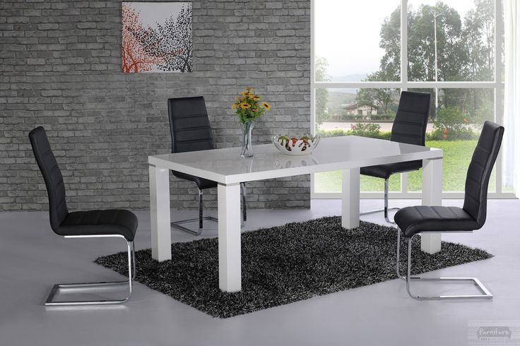 Price :  £210.00  DANATA WHITE HIGH GLOSS DINING TABLE:  High Street Price: £399.99 Outlet Price: £210  The beautifully designed Danata White High Gloss Dining Table is one that will add both style and practicality to your home.   Top High Gloss Finish in White  Manufactured using the latest technology  Contemporary Design  Table Size: L : 160 X W : 90 X H : 76cm