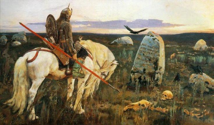 ''The Knight at the Crossroads'' (Витязь на распутье). Viktor Vasnetsov, 1878
