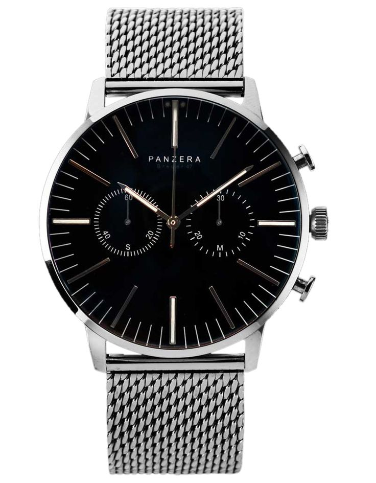 Panzera B47 Terros Mesh LTD Watch chrome | Accent Clothing