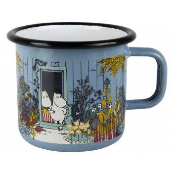 Muurla Moomin Moomins On The Riviera The Moomin House Enamel Mug