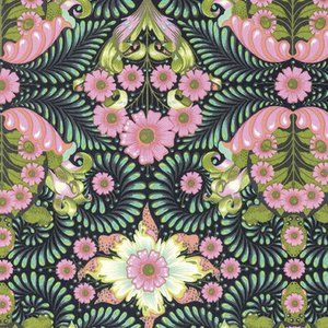 Tula Pink - Slow and Steady - The Tortoise in Strawberry Kiwi