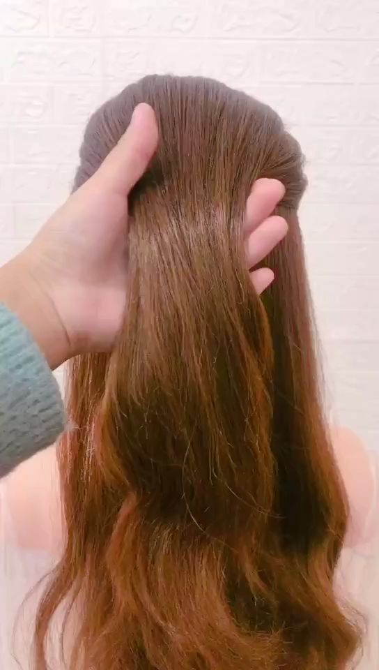 Very simple hair styling video