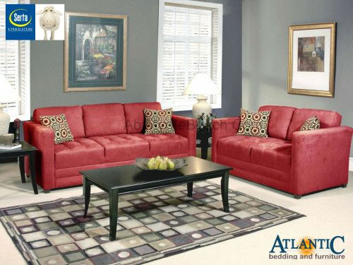 serta 1085 red rock sofa set colorful living room furniture pinterest products red and rocks. Black Bedroom Furniture Sets. Home Design Ideas