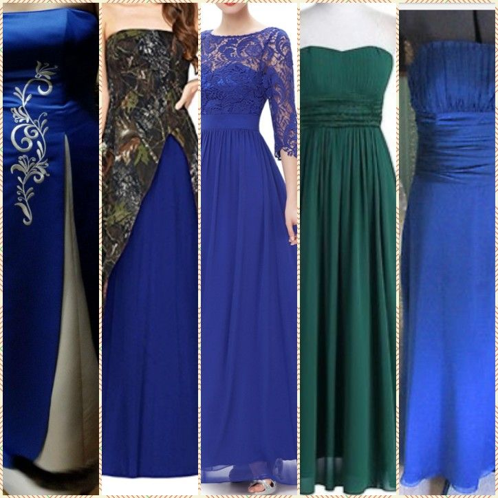 Pin By Leona Mercer On Rustic Royal Blue Camo Wedding Dresses Bridesmaid Dresses Camouflage Wedding