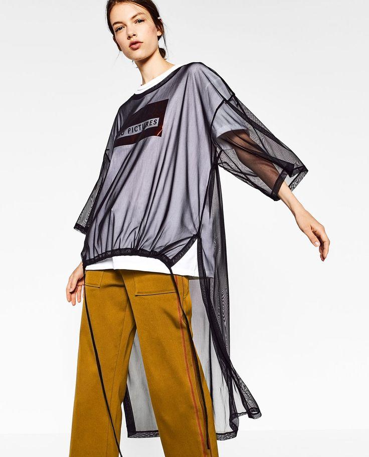 ロングバックデザインアシンメトリーTシャツ