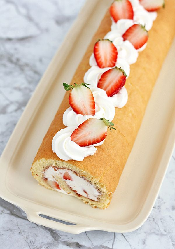 Japanese Strawberry Roll Cake