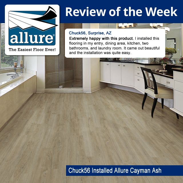 Use This TrafficMASTER Allure Cayman Ash Resilient Vinyl Plank Flooring To Add Warm And Comfortable Style Of Real Wood Your Interior Living Space
