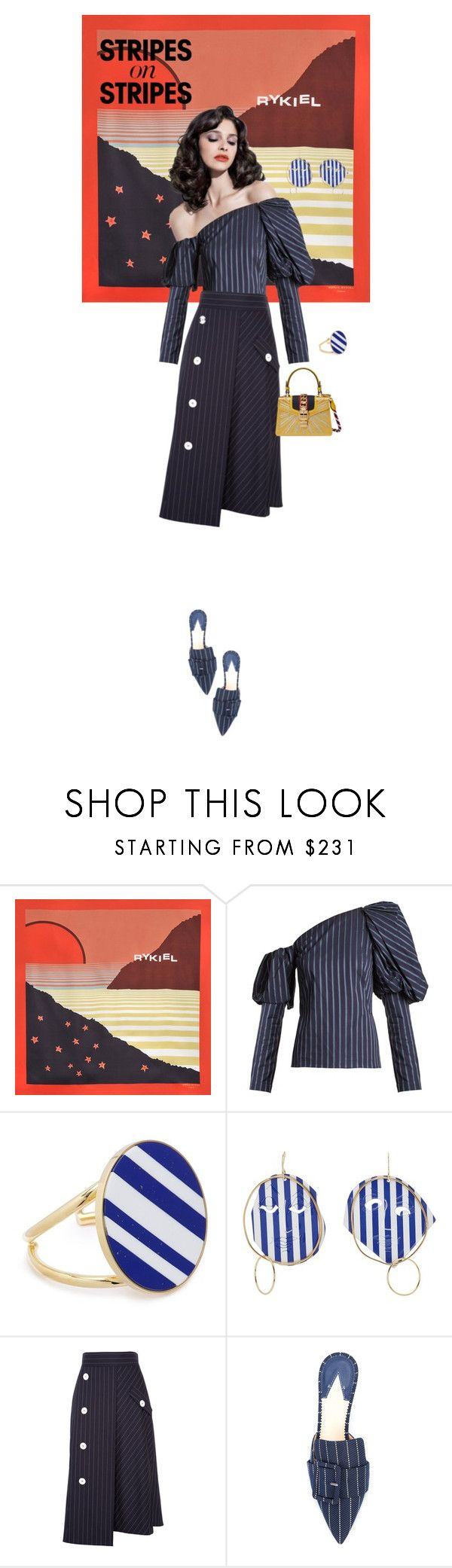"""""""💃"""" by ladyarchitect ❤ liked on Polyvore featuring Sonia Rykiel, Osman, Joanna Laura Constantine, J.W. Anderson, Dorothee Schumacher, Altuzarra, Gucci, stripesonstripes and PatternChallenge"""