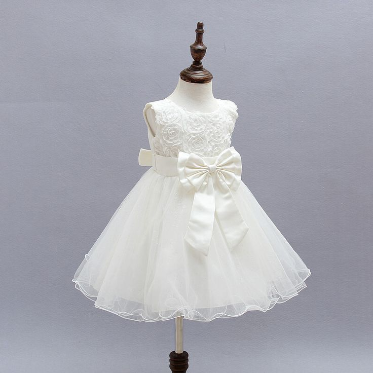 Christmas Girls Beautiful Fashion wedding dress baby party frocks Bow Flower kids party dresses for girls pageant dress retail