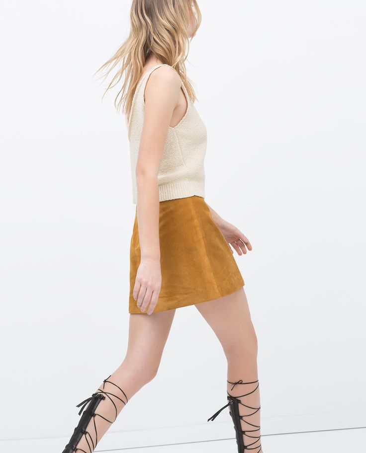 Image 3 of SUEDE MINISKIRT from Zara