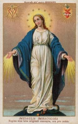 Blessed virgin mary holy picture genanzzano italy