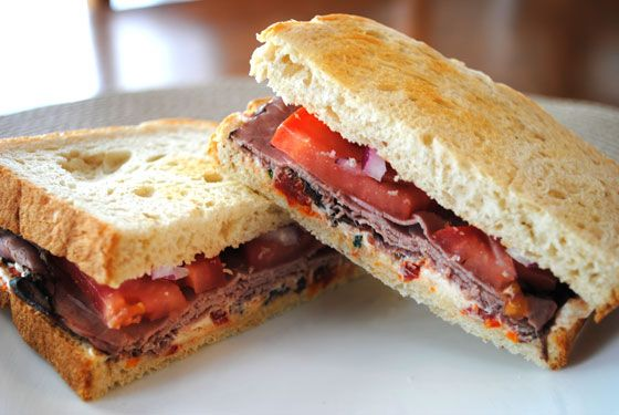 Roast Beef Sandwich with Sun-Dried Tomato Spread