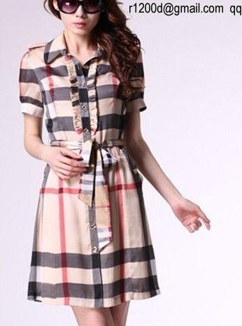 Robe burberry pour femme pas cher