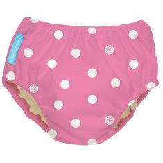 CB Swim Nappy Big Polka Dots on Baby Pink