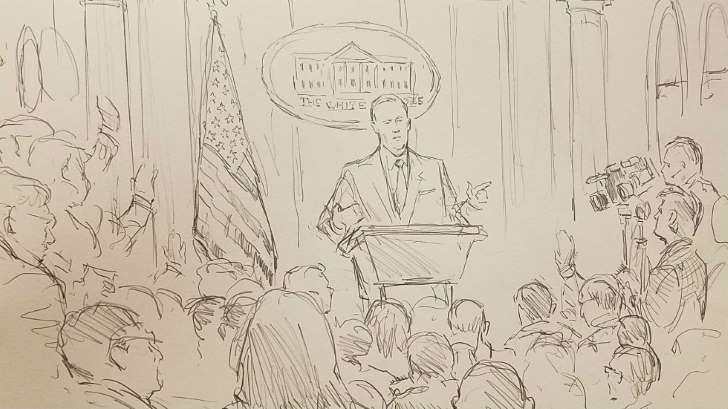 CNN brings courtroom sketch artist to White House press briefing